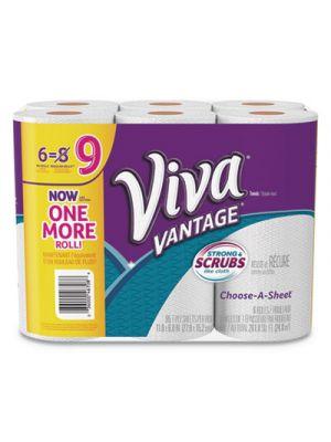 Vantage Choose-A-Sheet Paper Towel, 1Ply, 11 x 6, White, 95/RL, 6 RL/PK, 4 PK/CT