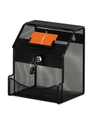 Onyx Mesh Collection Box, 7 1/4 x 8 1/2 x 6, Steel, Black