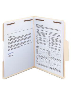 SuperTab Reinforced Guide Height Fastener Folder, 1/3 Tab, Letter,Manila, 50/Box