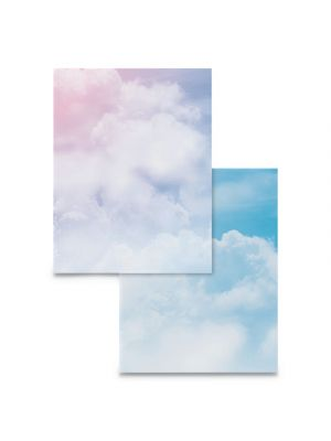 Pre-Printed Paper, 28 lb, 8 1/2 x 11, Multicolor, Clouds, 100 Sheets/RM