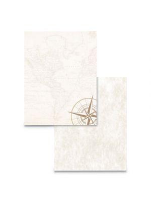 Pre-Printed Paper, 24 lb, 8 1/2 x 11, Tan, 50 Sheets/RM