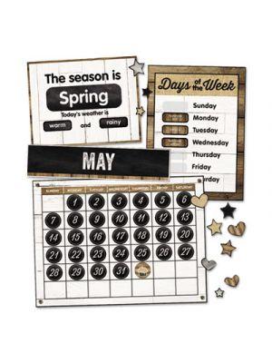 Calendar Bulletin Board Sets, Industrial Chic, Brown/White/Black, 23