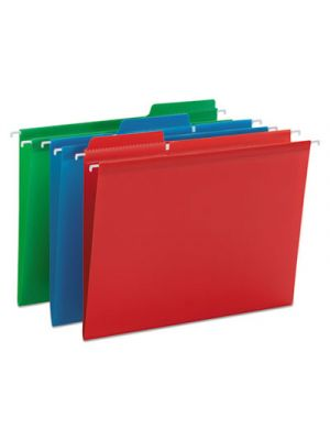 FasTab Hanging Folders, Letter, 1/3 Tab, Assorted, 18/Box