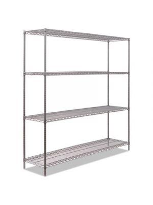 BA Plus Wire Shelving Kit, 4 Shelves, 72