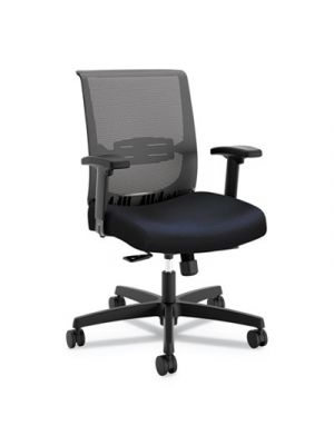 Convergence Mid-Back Task Chair, Navy/Black, Base: Black