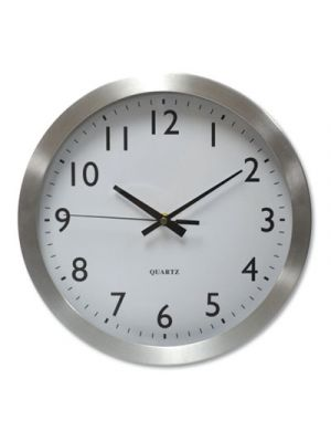 Brushed Steel Finish Wall Clock, 12