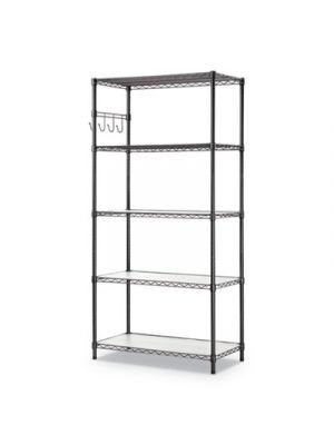 5-Shelf Wire Shelving Kit, 5 Shelves, 36
