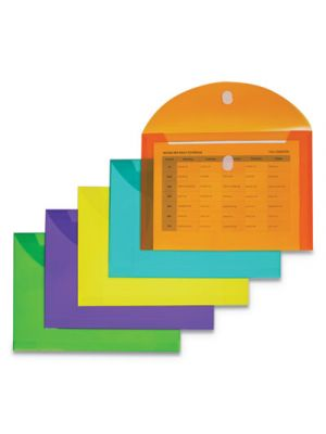 Reusable Poly Envelope, 8 1/2 x 11, Assorted, 10/Pack