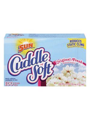 Cuddle Soft Fabric Softener Sheets, Fresh, 100/Box, 6 Boxes/Carton