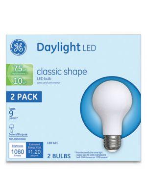 LED Classic Daylight A21 Light Bulb, 10W, 2/Pack