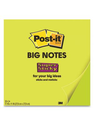 Big Notes, 11 x 11, Green, 30 Sheets