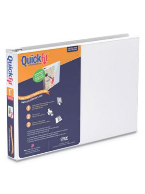 QuickFit Landscape Spreadsheet Round Ring View Binder, 1