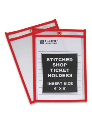 Stitched Shop Ticket Holders, Top Load, Super Heavy, 6