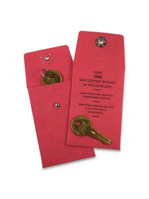 Nylon Vault Key-Hole Signals, 1-Key, 2.6w x 10.8d x 14.8h, Red