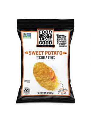 Tortilla Chips, Sweet Potato with Sea Salt, 1.5 oz, 24/Carton