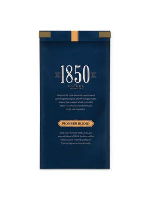 1850 Coffee, Pioneer Blend Medium Roast Ground, 12 oz Bag, 6/Carton