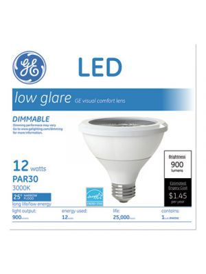 LED PAR30 Dimmable Warm White Flood Light Bulb, 2700K, 12W