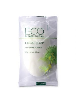 Facial Soap Bar, Clean Scent, 0.71 oz Pack, 500/Carton