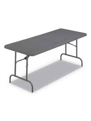 IndestrucTables Too 1200 Series Folding Table, 30w x 72d x 29h, Charcoal