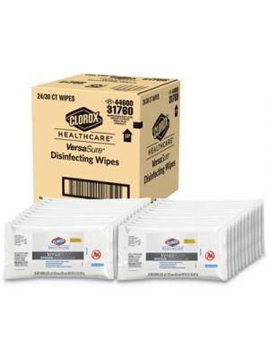 VersaSure Cleaner Disinfectant Wipes, 1-Ply, 6 3/4