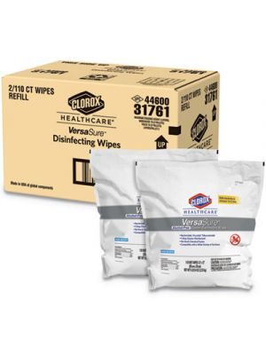 VersaSure Cleaner Disinfectant Wipes, 1-Ply, 12