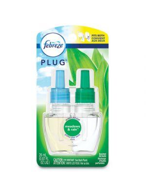 PLUG Air Freshener Refills, Meadows and Rain, 0.87 oz