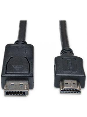 DisplayPort Cables, 10 ft, Black, Displayport/HDMI