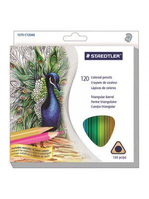 Triangular Colored Pencil Set, Soft, Assorted Lead, 120/Set