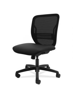 Gateway Mid-Back Task Chair, Black Seat, Armless