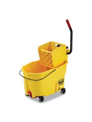 WaveBrake 2.0 Bucket/Wringer Combos, Side-Press, 44 qt, Plastic, Yellow