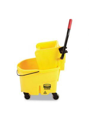 WaveBrake 2.0 Bucket/Wringer Combos, Side-Press, 6.5 gal, Plastic, Yellow