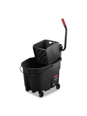 WaveBrake 2.0 Bucket/Wringer Combos, Side-Press, 8.75 gal, Plastic, Black