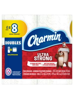 Ultra Strong Bathroom Tissue, 2-Ply, 143 Sheet/Roll, 4/Pack