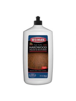 High Traffic Hardwood Polish and Restorer, 32 oz Squeeze Bottle, 6/Carton