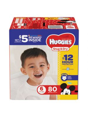 Snug and Dry Diapers, Size 6, 35 lb min, 80/Pack
