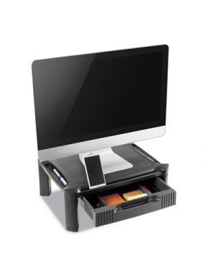Large Monitor Stand with Cable Management and Drawer, 18 3/8