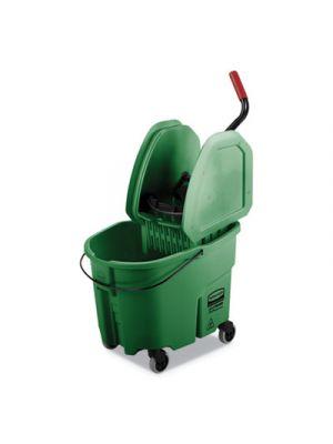 WaveBrake 2.0 Bucket/Wringer Combos, 35 qt, Down Press, Plastic, Green