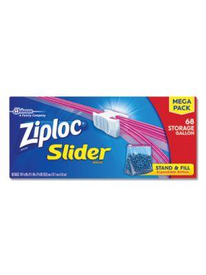 Slider Storage Bags, Gallon, Clear, 9/Carton