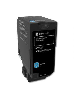 Remanufactured 74C10C0 (CS720/CS725/CX725) Return Program Toner, Cyan