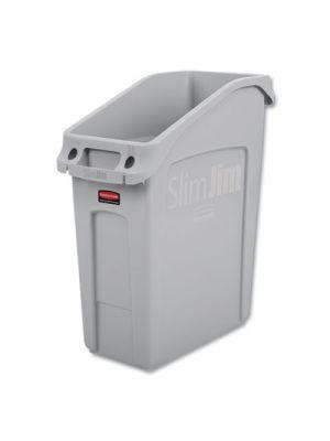 Slim Jim Under-Counter Container, 13 gal, Polyethylene, Gray