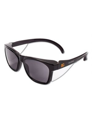 Maverick Safety Glasses, Black, Polycarbonate Frame, Smoke Lens