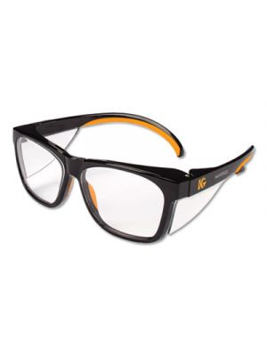 Maverick Safety Glasses, Black/Orange, Polycarbonate Frame