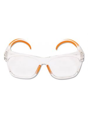 Maverick Safety Glasses, Clear/Orange, Polycarbonate Frame