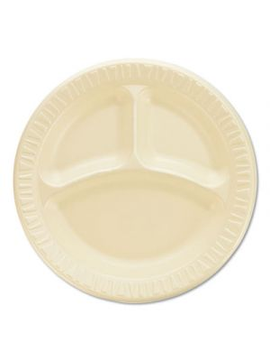 Quiet Classic Laminated Foam Dinnerware, Compartment Plate, 9