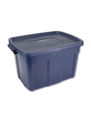 Roughneck Storage Box, 19 7/8w x 28 7/8d x 16 3/4h, Dark Indigo Metallic