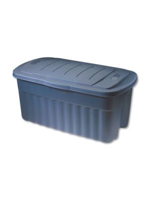Roughneck Storage Box, 21 1/5w x 36 9/10d x 18 3/10h, Dark Indigo Metallic