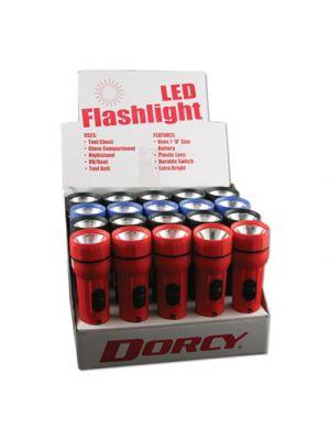 LED Utility Flashlight, 1 D Battery, Assorted