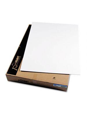 CFC-Free Polystyrene Foam Board, 30 x 40, White Surface and Core, 25/Carton