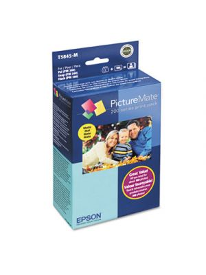 T5845M (T5845-M) PictureMate 200 Print Pack, Tri-Color Ink & Matte Photo Paper