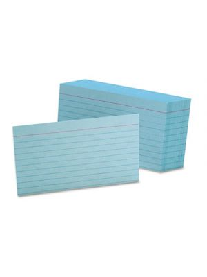 Ruled Index Cards, 3 x 5, Blue, 100/Pack